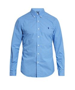Polo Ralph Lauren | Slim-Fit Checked Cotton-Poplin Shirt
