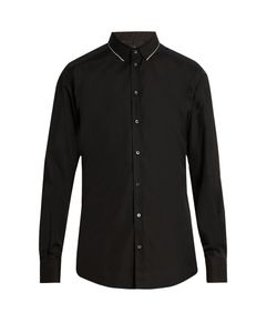 Dolce & Gabbana | -Fit Single-Cuff Cotton-Blend Shirt