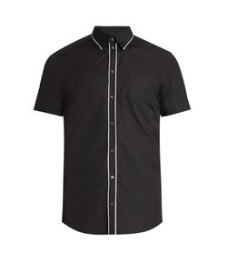 Dolce & Gabbana | Contrast-Piping Short-Sleeved Cotton Shirt