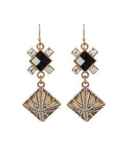 Lulu Frost | Terraced Geometric Drop Earrings