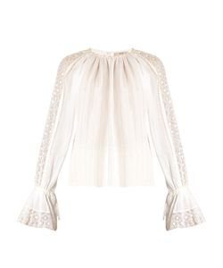 Etro | Lace-Insert Bell-Sleeved Blouse