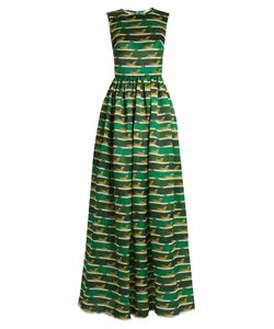 Mary Katrantzou | Shaw Striped Cheetah-Print Organza Dress