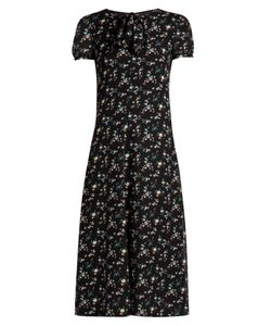 Saint Laurent | -Print Georgette Midi Dress