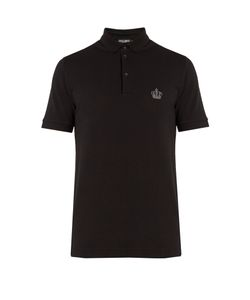 Dolce & Gabbana | Crown-Embroidered Polo Shirt