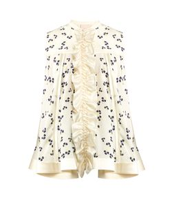 ROKSANDA | Charwood Ruffle-Trimmed Parsley-Print Silk Blouse