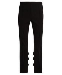 Toga | Ruffled Slim-Leg Cotton-Blend Trousers