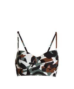 Norma Kamali   Camo-Print Balconette Bikini Top