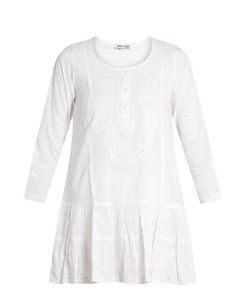 Juliet Dunn | -Embroidered Cotton Beach Dress