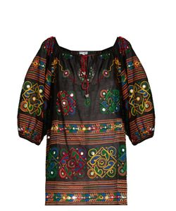 Juliet Dunn | Embroidered Cotton Kaftan