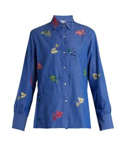 Thierry Colson | Arthur Leaf-Embroidered Cotton Shirt