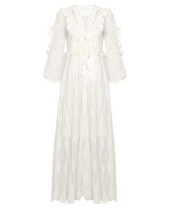 Zimmermann | Valour Embroidered Silk-Crepon Dress
