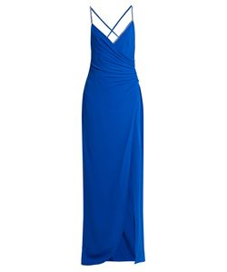 Versace   Crystal-Embellished Ruched Silk Gown