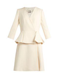 Alexander McQueen | Peplum-Waist Wool And Silk-Blend Dress