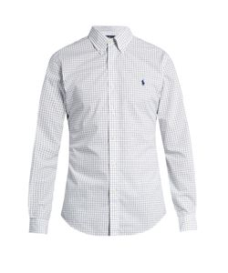 Polo Ralph Lauren | Grid-Print Slim-Fit Cotton Shirt