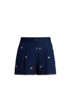 Thierry Colson | Macha Embroidered Cotton Shorts