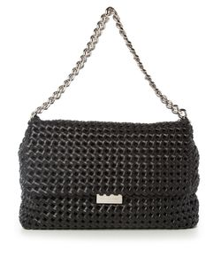 Stella Mccartney | Becks Medium Woven Faux-Leather Shoulder Bag