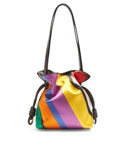 Loewe | Flamenco Knot Striped Satin Shoulder Bag