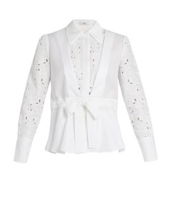 Erdem | Janie Broderie-Anglaise Panelled Cotton Shirt