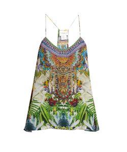 Camilla | Exotic Hypnotic-Print Silk Cami Top