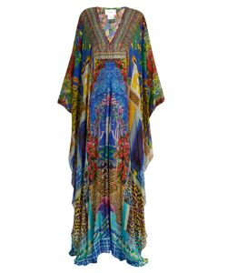 Camilla | Bohemian Bounty-Print Silk Maxi Dress