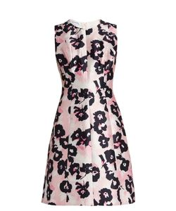 Oscar de la Renta | -Print Silk And Cotton-Blend Dress