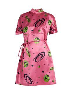 Miu Miu | Planet-Print Duchess-Silk Dress