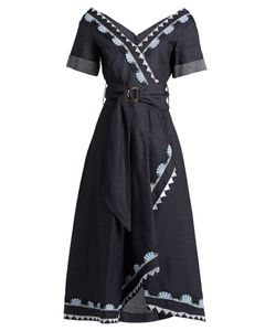 Peter Pilotto | V-Neck Cotton And Linen-Blend Dress