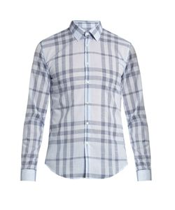 Burberry | Single-Cuff Checked Cotton Shirt