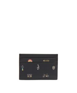 Paul Smith   Cufflink Charm-Print Grained-Leather Cardholder