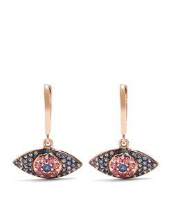 Ileana Makri | Sapphire Rodolites Pinkearrings