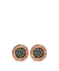 Ileana Makri | Diamond Sapphire Tsavorite Pinkearrings