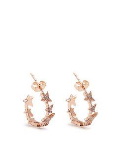 Diane Kordas   Diamond Rosestar Line Earrings
