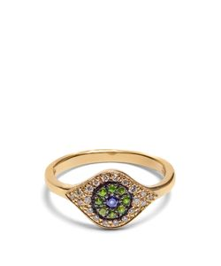 Ileana Makri | Diamond Sapphire Tsavorite Yellowring
