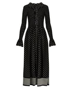 Stella Mccartney | Ruffled Polka-Dot Print Jumpsuit