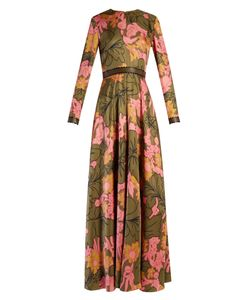 ROKSANDA | Kamenev Wood-Flora Print Silk Gown