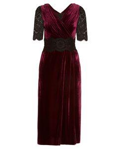 Dolce & Gabbana | Lace And Velvet Midi Dress