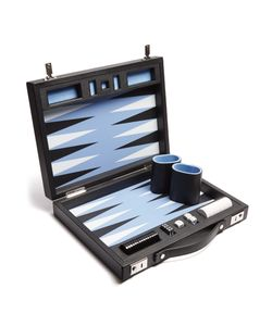 Smythson | Grosvenor Leather Travel Backgammon Set