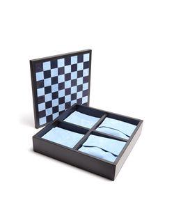 Smythson | Grosvenor Leather Triple Game Set