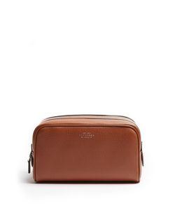 Smythson | Burlington Small Grained-Leather Washbag
