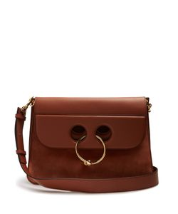 J.W. Anderson | Pierce Large Leather And Suede Shoulder Bag