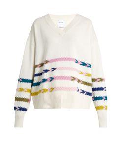 BARRIE | Summer Sailor V-Neck Cashmere Sweater