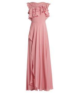 Elie Saab | Ruffled Silk-Georgette Gown