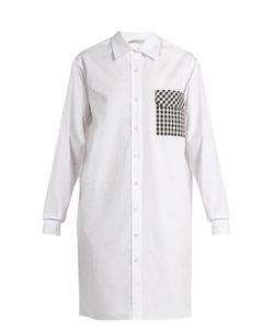 Christopher Kane | Gingham-Pocket Cotton-Poplin Shirtdress