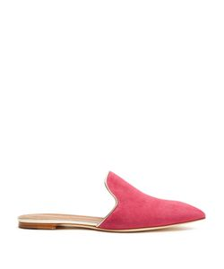 MALONE SOULIERS | Marianne Backless Suede Loafers
