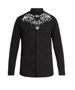 Givenchy | Contemporary-Fit Tattoo-Print Single-Cuff Shirt