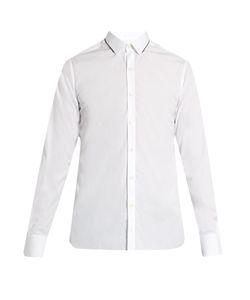 Lanvin | Collar-Contrast Single-Cuff Cotton Shirt