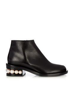 Nicholas Kirkwood | Casati Pearl-Heeled Leather Ankle Boots