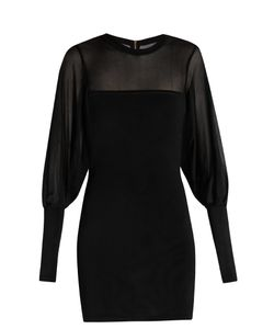Balmain | Mesh-Insert And Sleeves Mini Dress