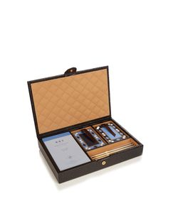 Smythson | Mara Leather Bridge Set