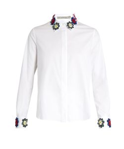 Mary Katrantzou | Shane Lace Embellished Collar Shirt